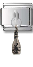 Wine Bottle Sterling Silver Italian Charm