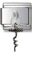 Corkscrew Sterling Silver Italian Charm