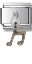 Note Sterling Silver Italian Charm