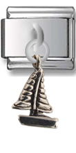 Sailing Boat Sterling Silver Italian Charm