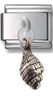 Shell Sterling Silver Italian Charm