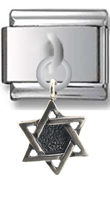 Star of David Sterling silver Italian Charm