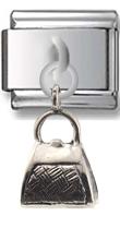 Purse Sterling Silver Italian Charm