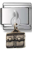 Briefcase Sterling Silver Italian Charm