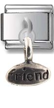 Friend- Joy Sterling Silver Italian Charm