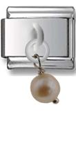 Pearl Sterling Silver Italian Charm