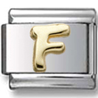 Disney letter F Italian charm