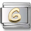 Disney letter G Italian charm