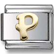 Disney letter P Italian charm