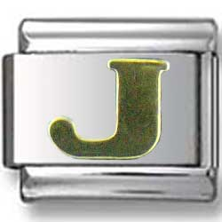 Gold Puffy J Letter
