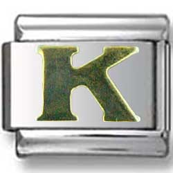 Gold Puffy K Letter