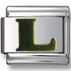 Gold Puffy L Letter