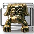Golden Puppy Italian Charm