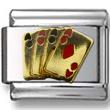 Gold Cards Italian Charm