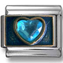 Blue Zirconia Heart