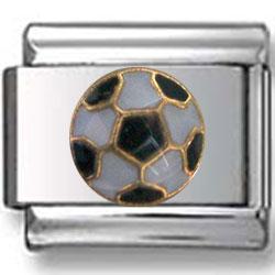 Soccer Ball Italian Charm