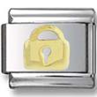 Gold Lock Italian Charm