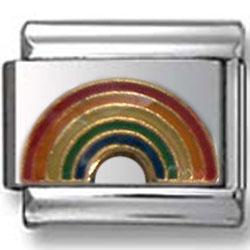 Rainbow Italian Charm