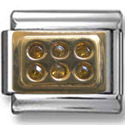 Bar Zirconia Italian Charm