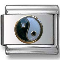 Yin-Yang Italian Charm