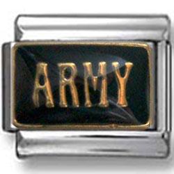 Army Italian Charm