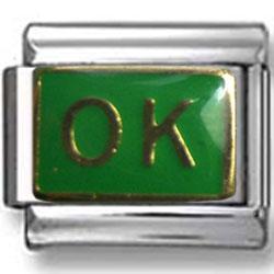 Green OK Italian Charm
