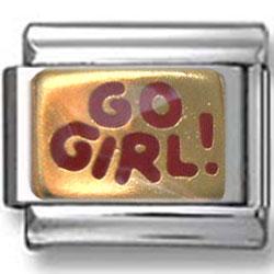 Go Girl Italian Charm