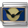Bat in blue Sky Italian Charm