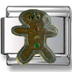 Gingerbread Man Italian Charm