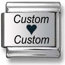 Custom Loves Custom Laser Charm
