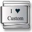 I Love Custom Laser Charm