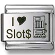 I Love Slots Laser Italian Charm