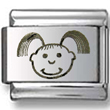Baby Girl Laser Italian Charm