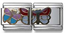 Butterflies Double Italian Charm