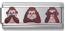 3 Monkey Italian Charm