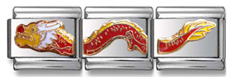 Chinese Dragon Italian Charm