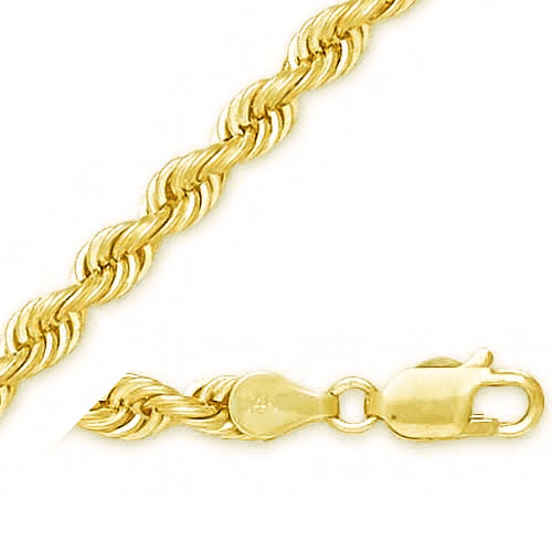 14K 5mm Solid Rope Bracelet. Price: $666.76
