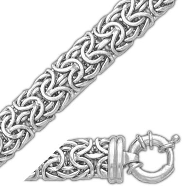 14K White Gold 9.1mm Bizantine Bracelet. Price: $643.38