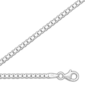 Sterling Silver 1.0mm Box Chain. Price: $8.50