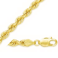 14K 5mm Solid Rope Bracelet
