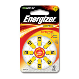 One pk of 8 cells Type 13 Energizer Hearing Aid Batteries