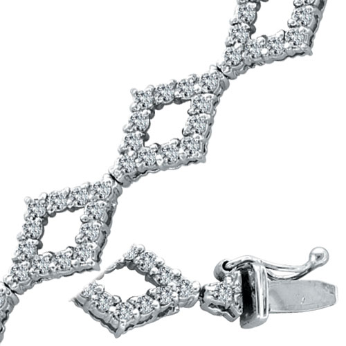 14K White Gold 2.52ct Diamond Fancy Bracelet,. Price: $3475.20