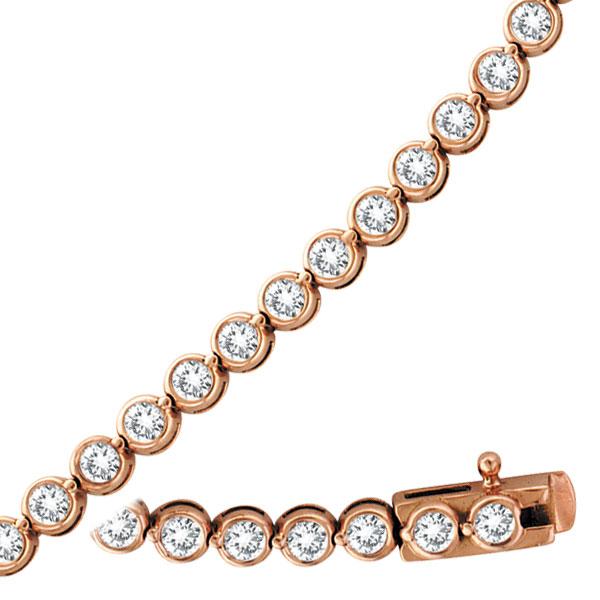 14K Rose Gold Diamond Bezel Set Bracelet. Price: $3429.12