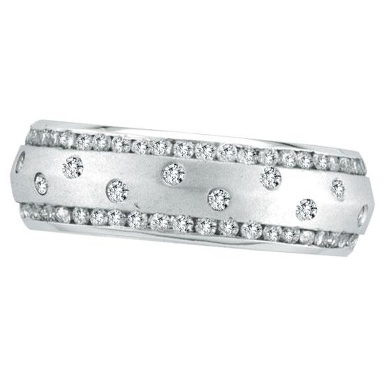 14K White Gold Diamond Eternity Band. Price: $2352.00