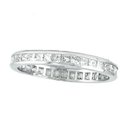 14K White Gold Princess Cut 1.16ct Diamond Eternity Band. Price: $2620.80