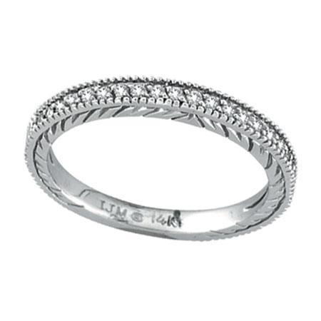 14K White Gold .31ct Diamond Wedding Band Ring. Price: $456.00