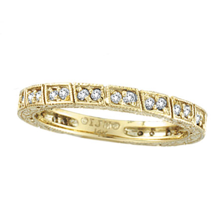 14K Yellow Gold .33ct Diamond Stackable Eternity Band. Price: $686.40