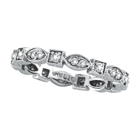 14K White Gold .36ct Diamond Stackable Eternity Band. Price: $724.80