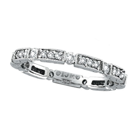 14K White Gold .50ct Diamond Stackable Eternity Band. Price: $1080.00