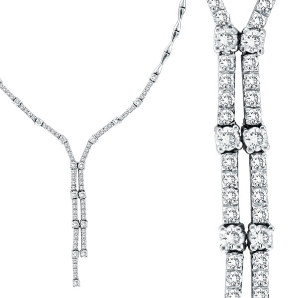14K White Gold 2.11ct Diamond Symmetric Necklace. Price: $4104.00